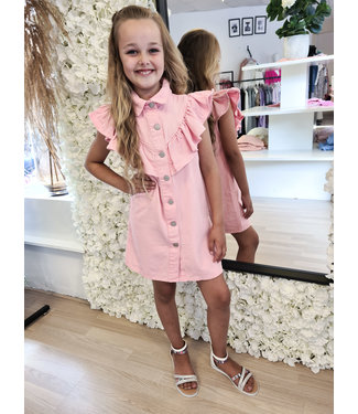 GIRLS Denim Dress Zara Pink