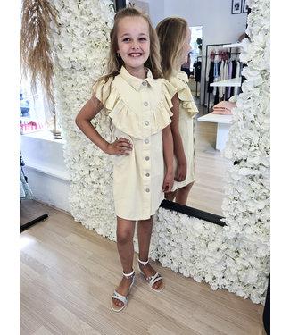 GIRLS Denim Dress Zara Beige
