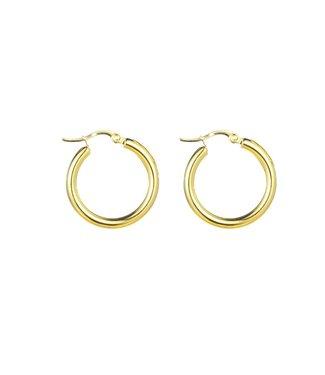 Go Dutch Label Earrings Amber Gold