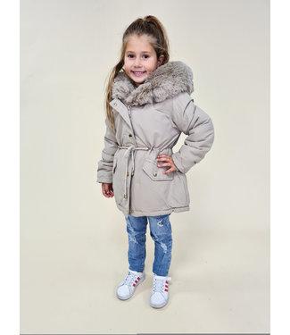 GIRLS Winter Jacket Beige