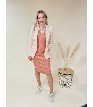 Blazer Tweed Blush