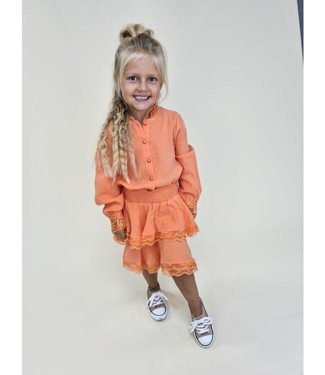 GIRLS Set Linda Pastel Orange