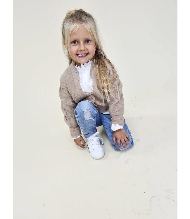 GIRLS Vest Liesbeth Taupe