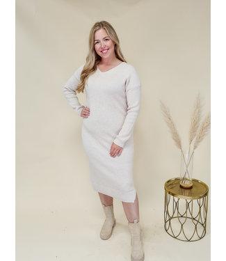 PRE-ORDER Dress Mienke Beige