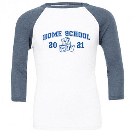 Customise this White & Denim Baseball T-Shirt