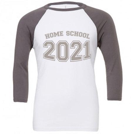 Customise this White & Asphalt Baseball T-Shirt