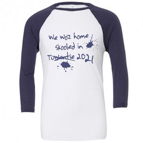 Customise this White & Navy Baseball T-Shirt