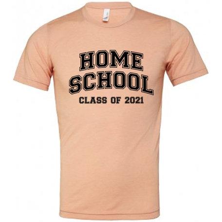 Customise this Peach Tri-Blend T-Shirt