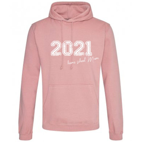 Customise this Dusty Pink College Hoodie