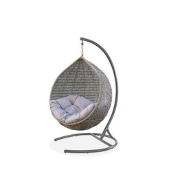 Hamilton Bay OUTDOOR Hamilton Bay Hangstoel EGG rond Taupe incl. frame