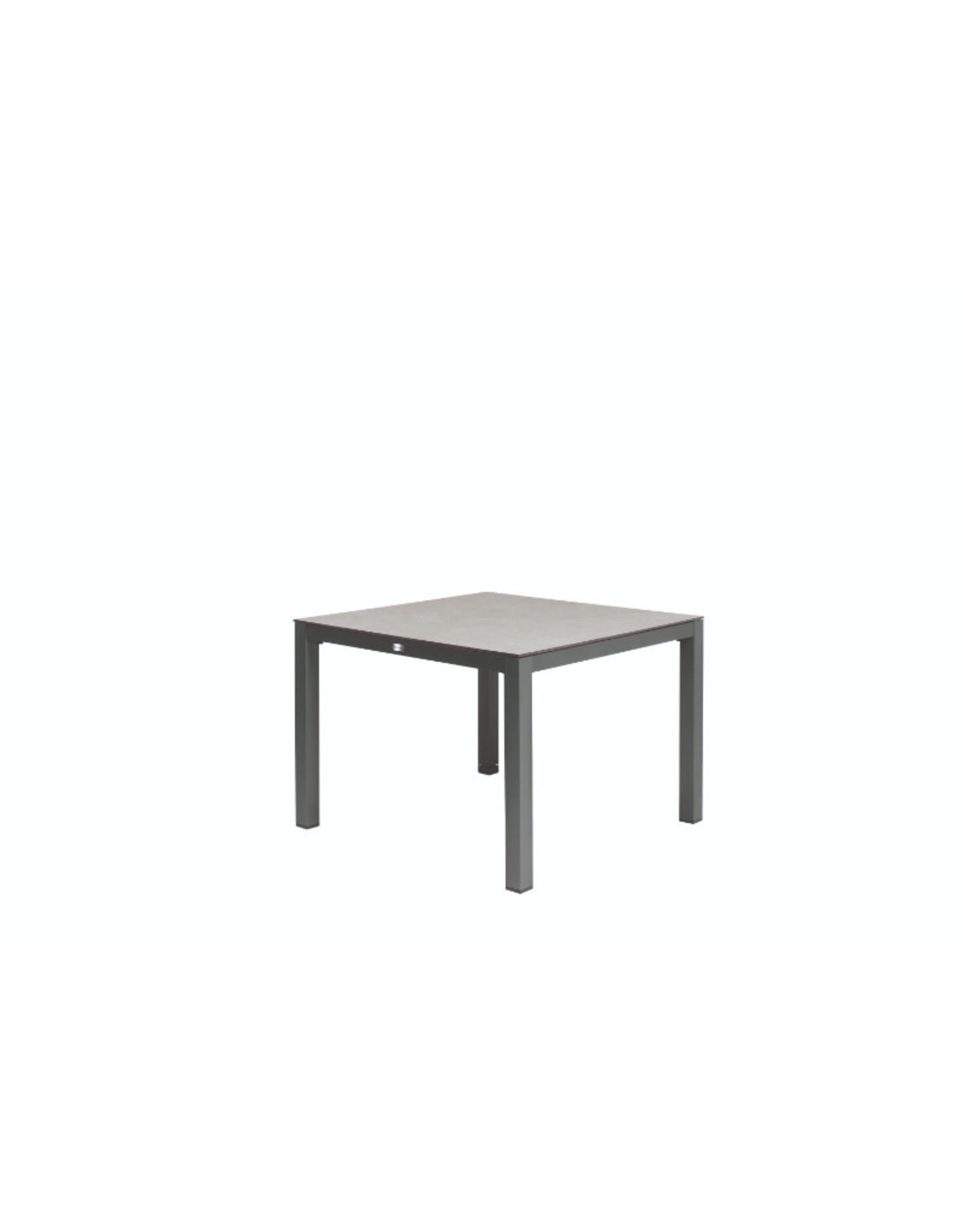 Tierra Outdoor Tierra Outdoor Briga Table Trespa Oak Grey 100x100cm Charcoal Frame
