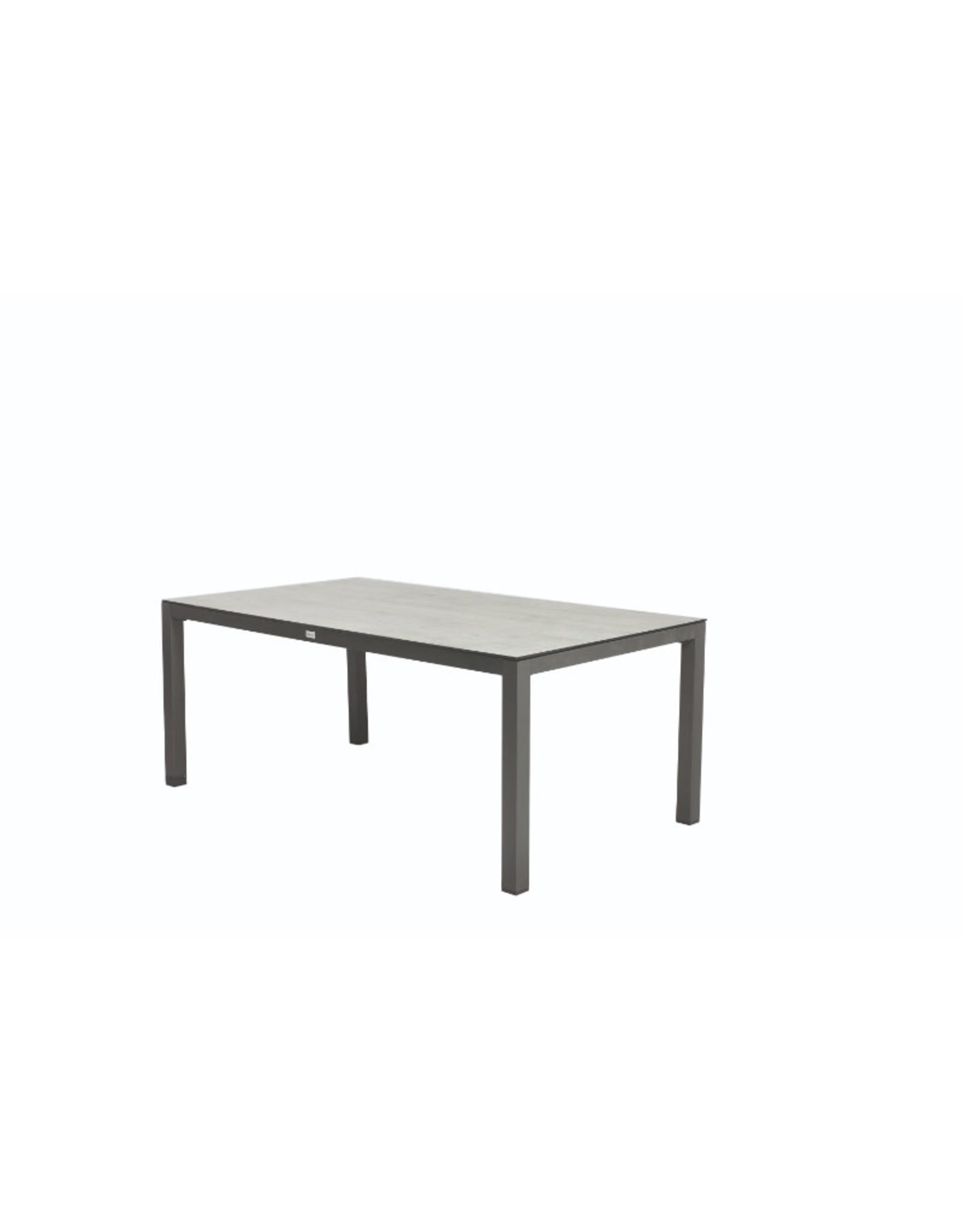 Tierra Outdoor Tierra Outdoor Briga Table Trespa Oak Grey 180x100cm Charcoal Frame
