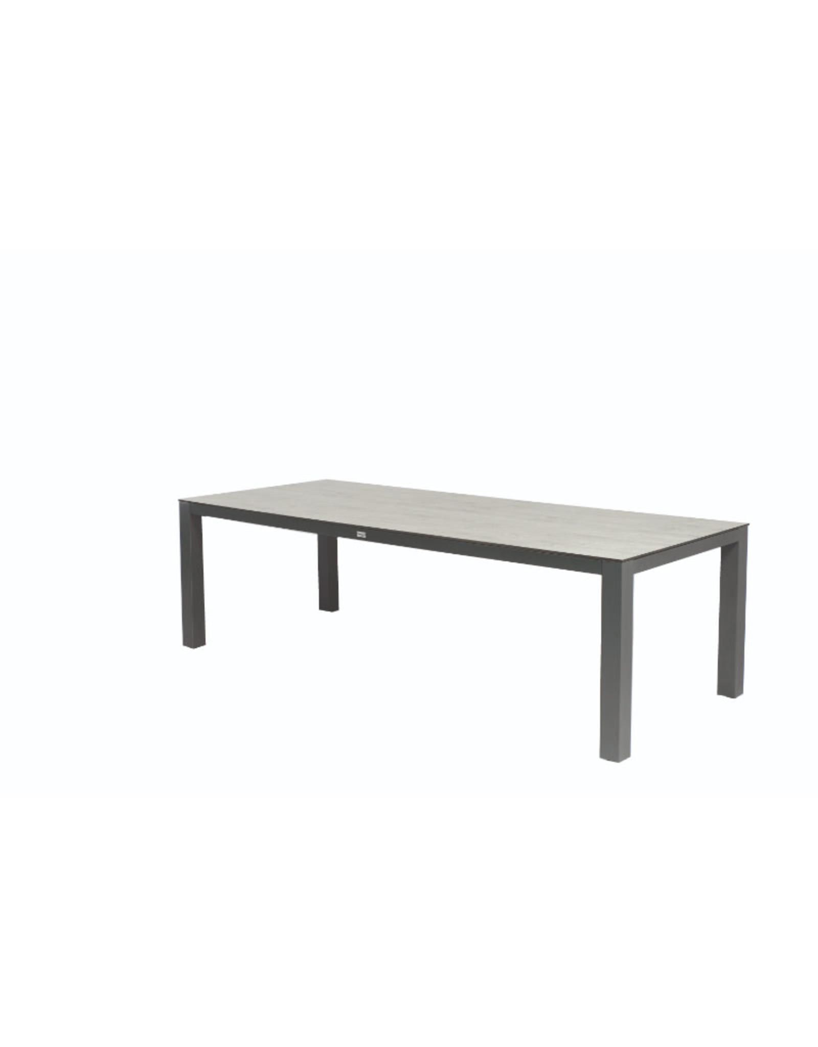 Tierra Outdoor Tierra Outdoor Briga Table Trespa Oak Grey 220x100cm Charcoal Frame