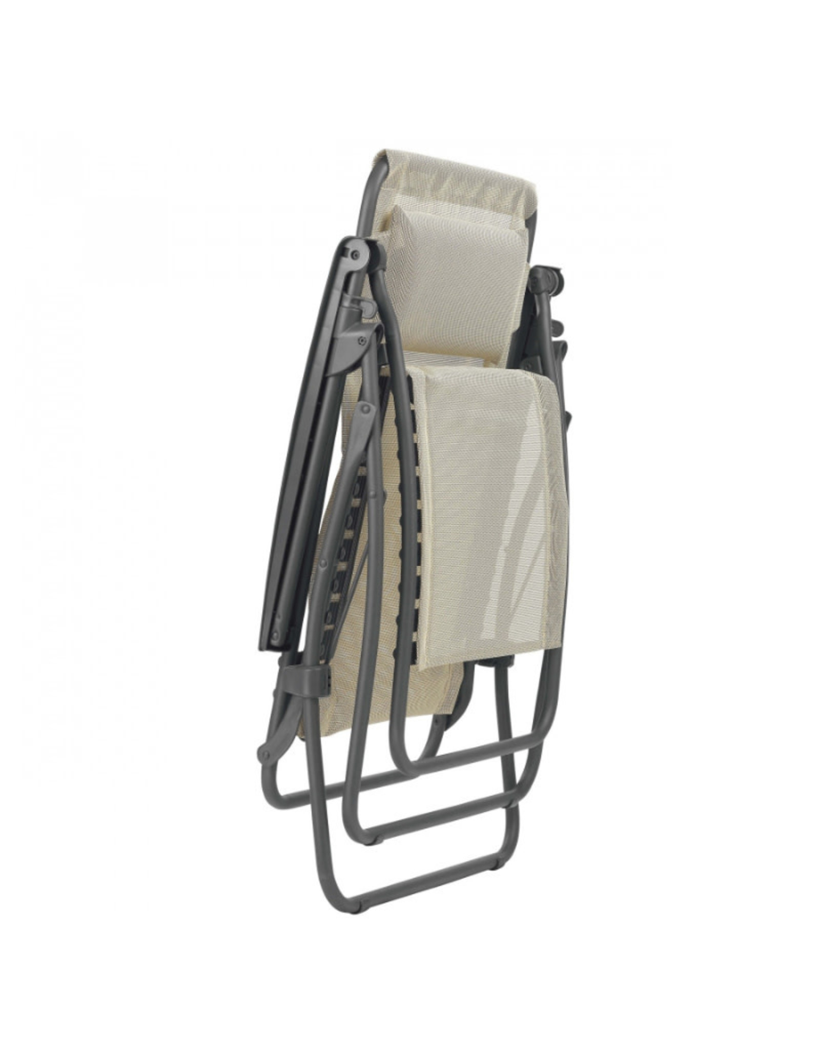 Lafuma Lafuma Relaxchair R CLIP batyline SEIGLE BEIGE met titaniumgrijs frame