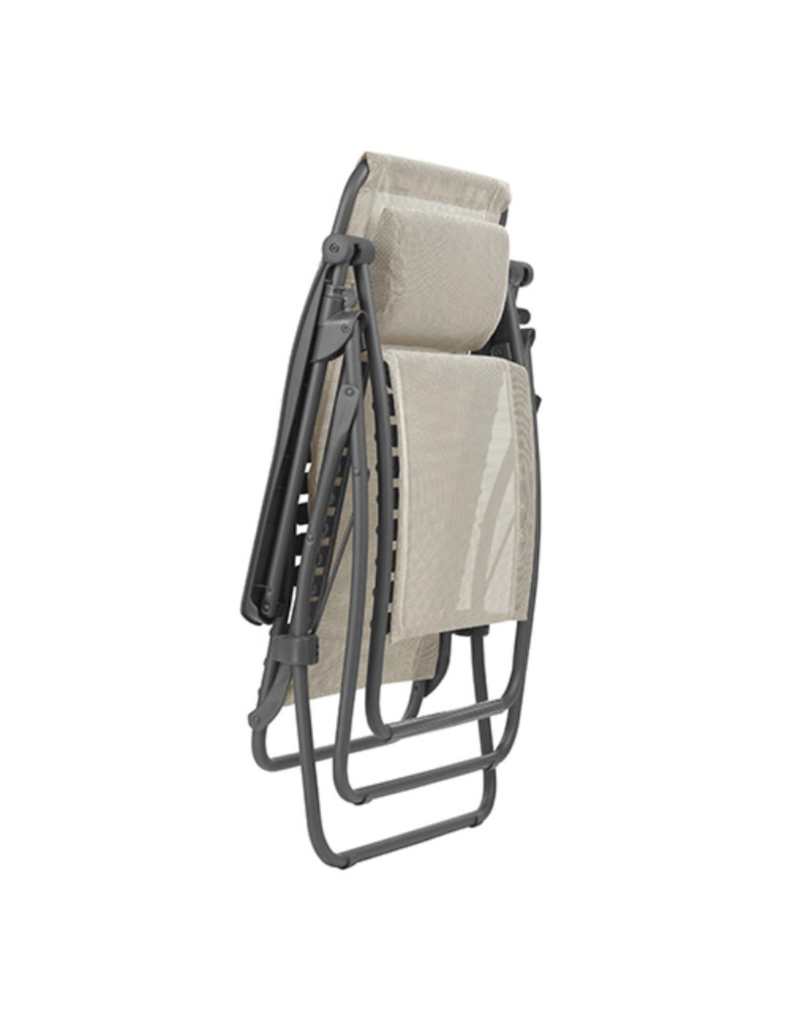 Lafuma Lafuma Relaxchair RSXA CLIP Batyline SEIGLE BEIGE met titaniumgrijs frame