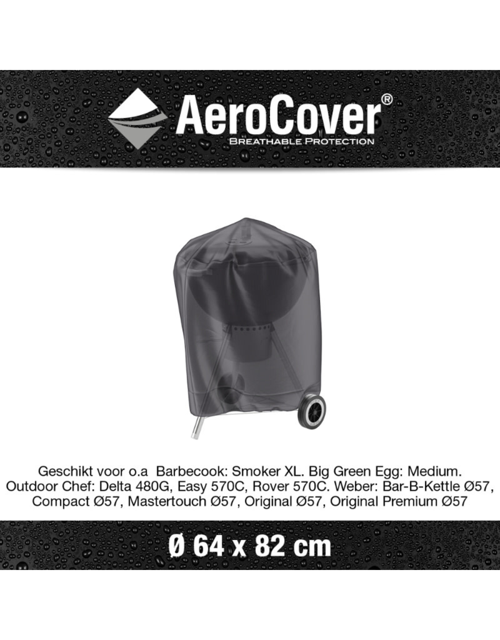 Aerocover AeroCover Bbq hoes rond 64cm