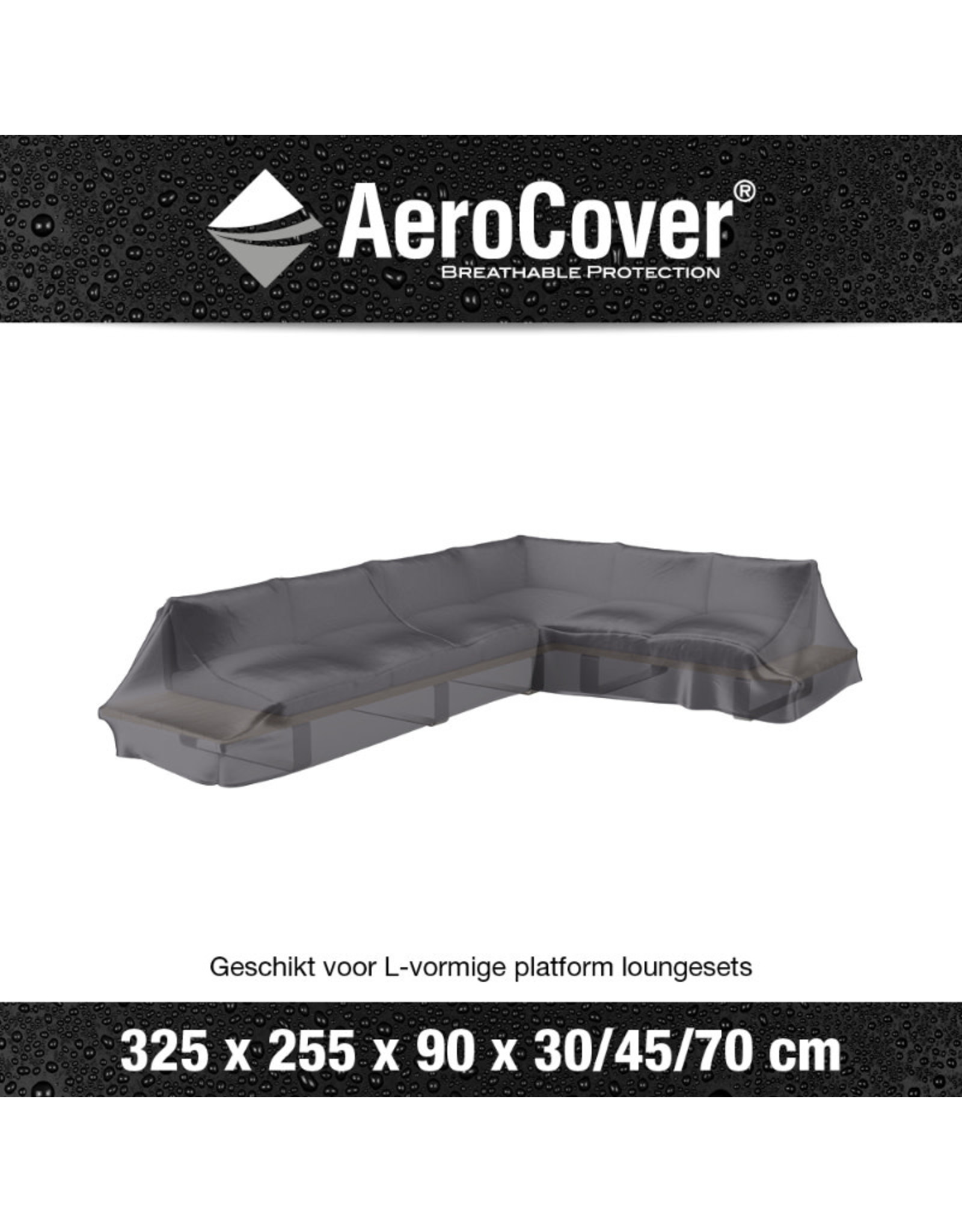 Aerocover  AeroCover Lounge set platform cover right 325x255x90xH30-45-70
