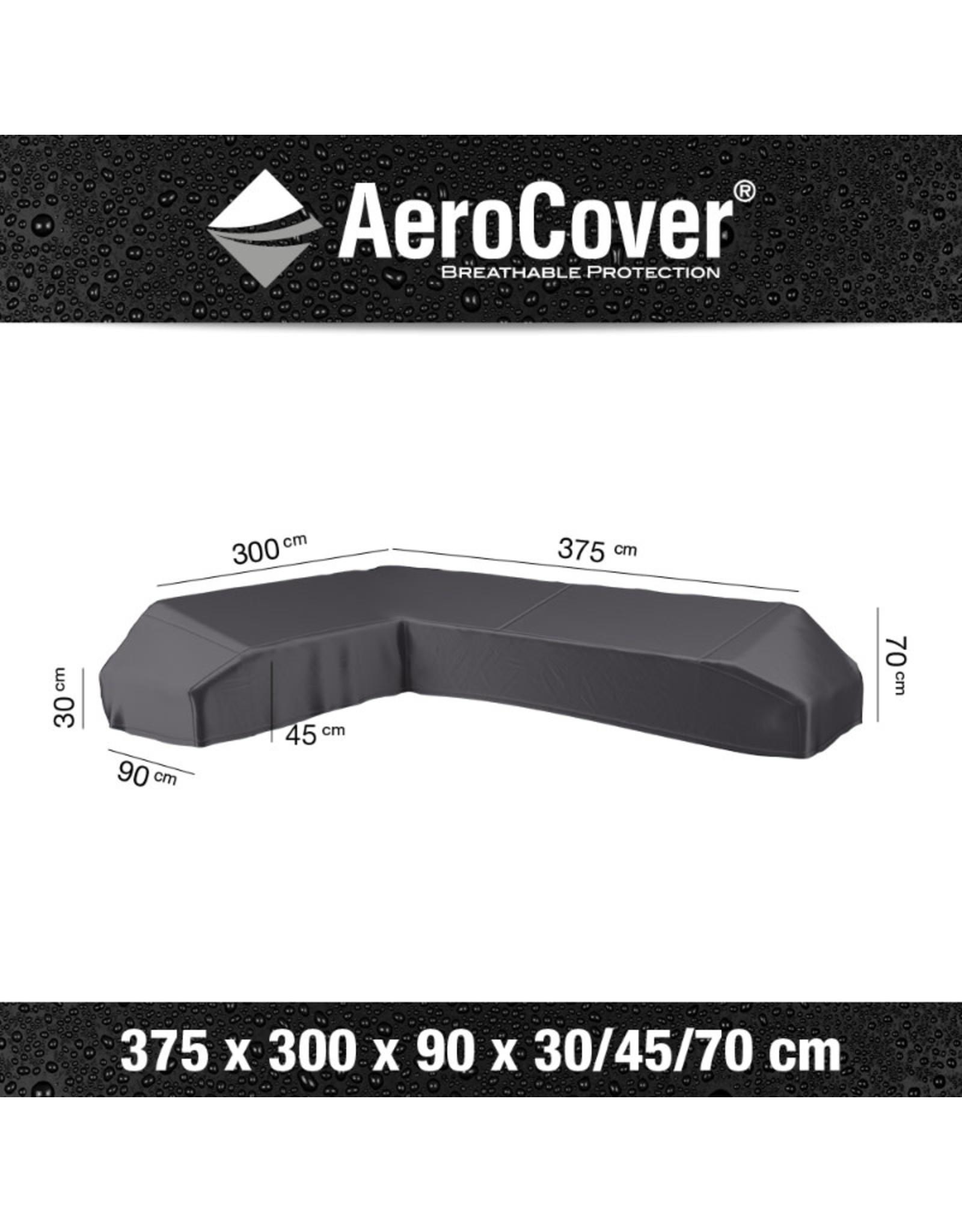 Aerocover Lounge sets L-shape platform sets 375x275x90xH30 / 45/70. Left