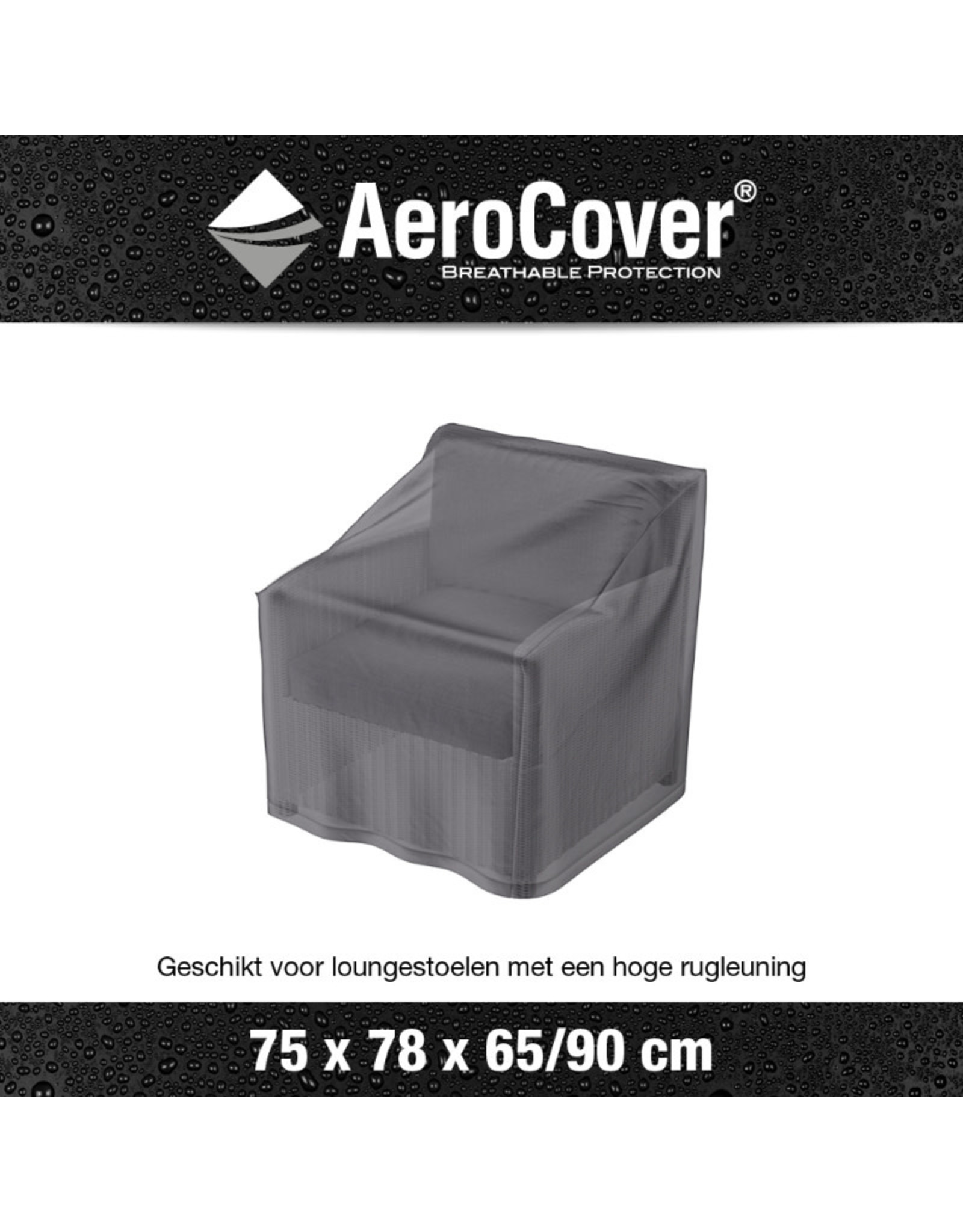 Aerocover AeroCover Loungestoelhoes hoge rug 75x78x65-90
