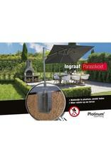 Platinum Platinum Parasolvoet Ingraaf parasolvoet Zwart