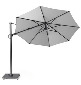 Platinum Platinum Free arm parasol Challenger T2 round 3.5 Light grey
