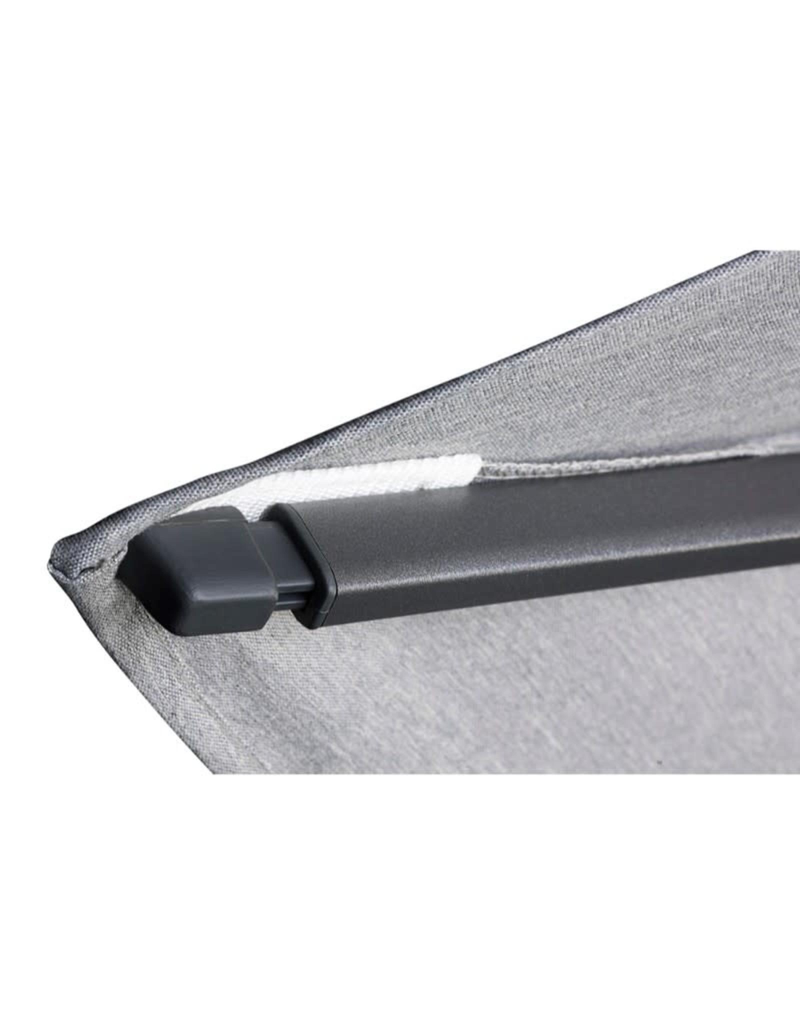 Platinum Platinum Zweefparasol Challenger T2  rond 3,5 Lichtgrijs