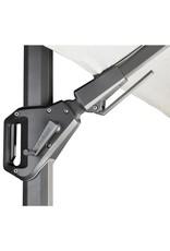 Platinum Platinum Zweefparasol Challenger T2 premium rond 3,5 Faded black