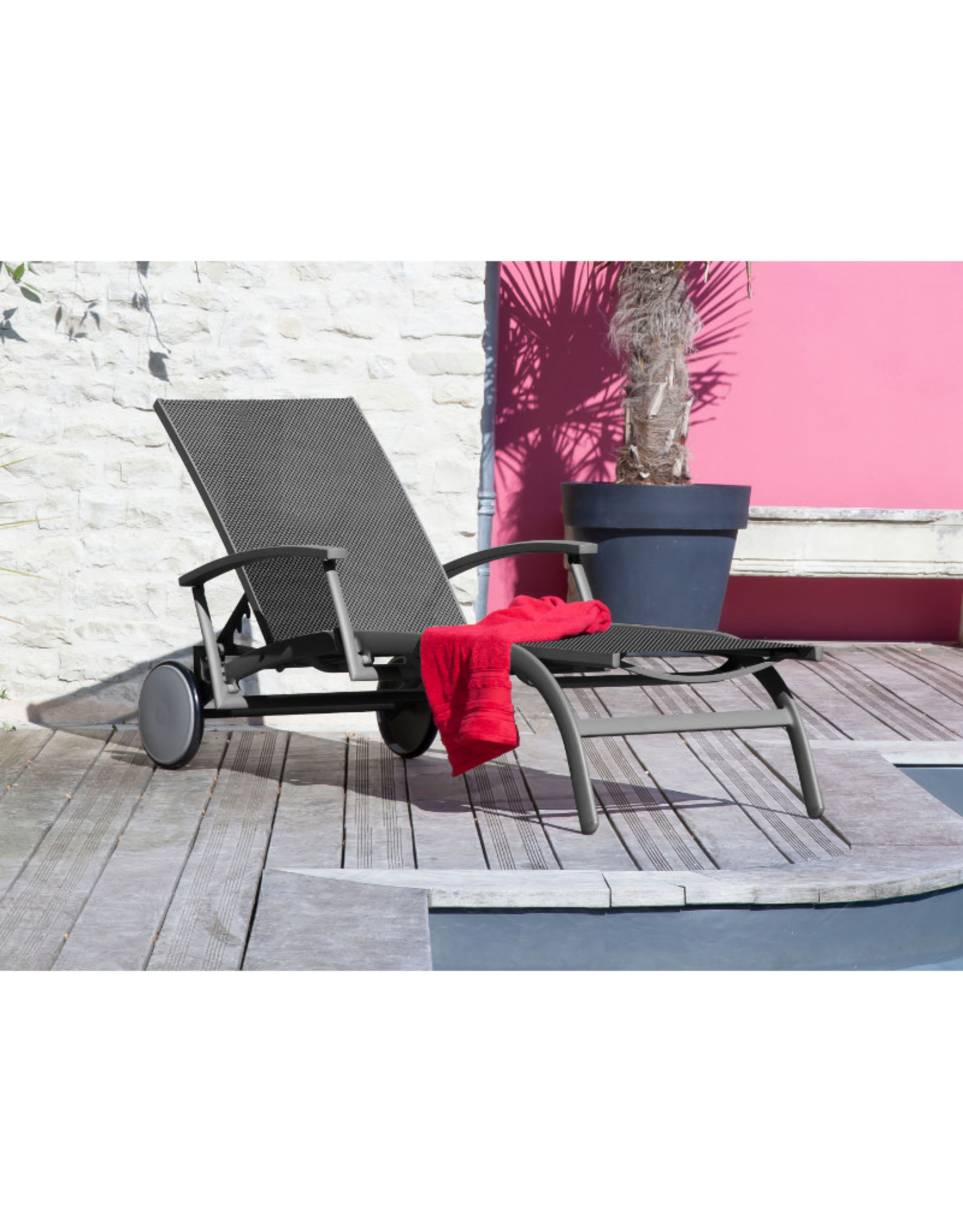 OCEO Oceo Elegance lounger antraciet