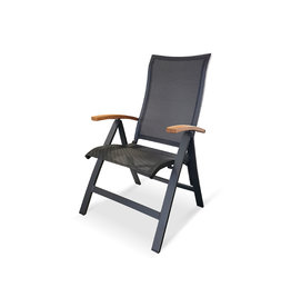 OCEO Oceo Roma recliner with teak arms dark gray