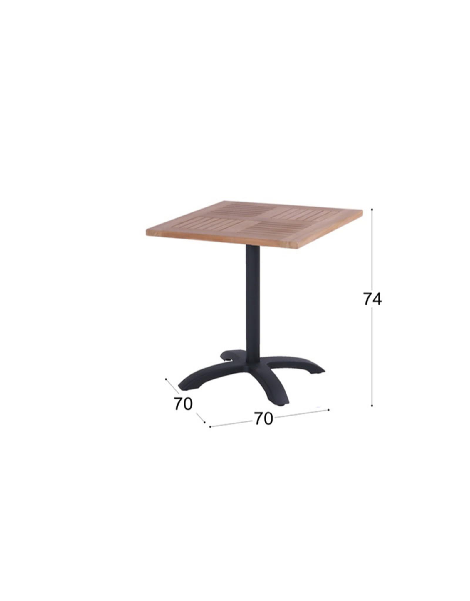Hartman Hartman Bistro Table 70x70 Teak blad, frame