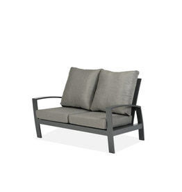 Tierra Outdoor Tierra Outdoor Valencia Lounge Bench 2-Seater Charcoal