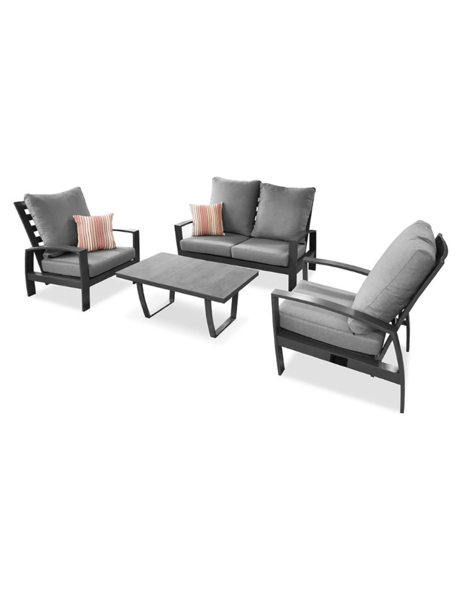 Tierra Outdoor Tierra Outdoor Valencia Lounge Chair Charcoal