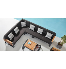 Higold Higold New York Loungeset XL, 5dlg, 292x255cm zwart/teak
