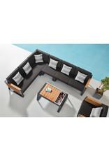 Higold Higold New York Loungeset 4dlg 225x225cm zwart/teak