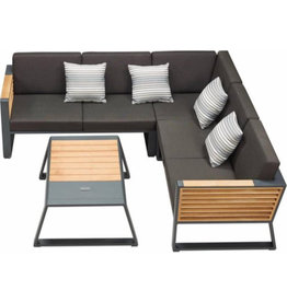 Higold Higold New York Lounge set 4pcs 225x225cm black/teak