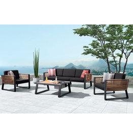 Higold Higold New York Three-seater sofa set 4pcs black/teak