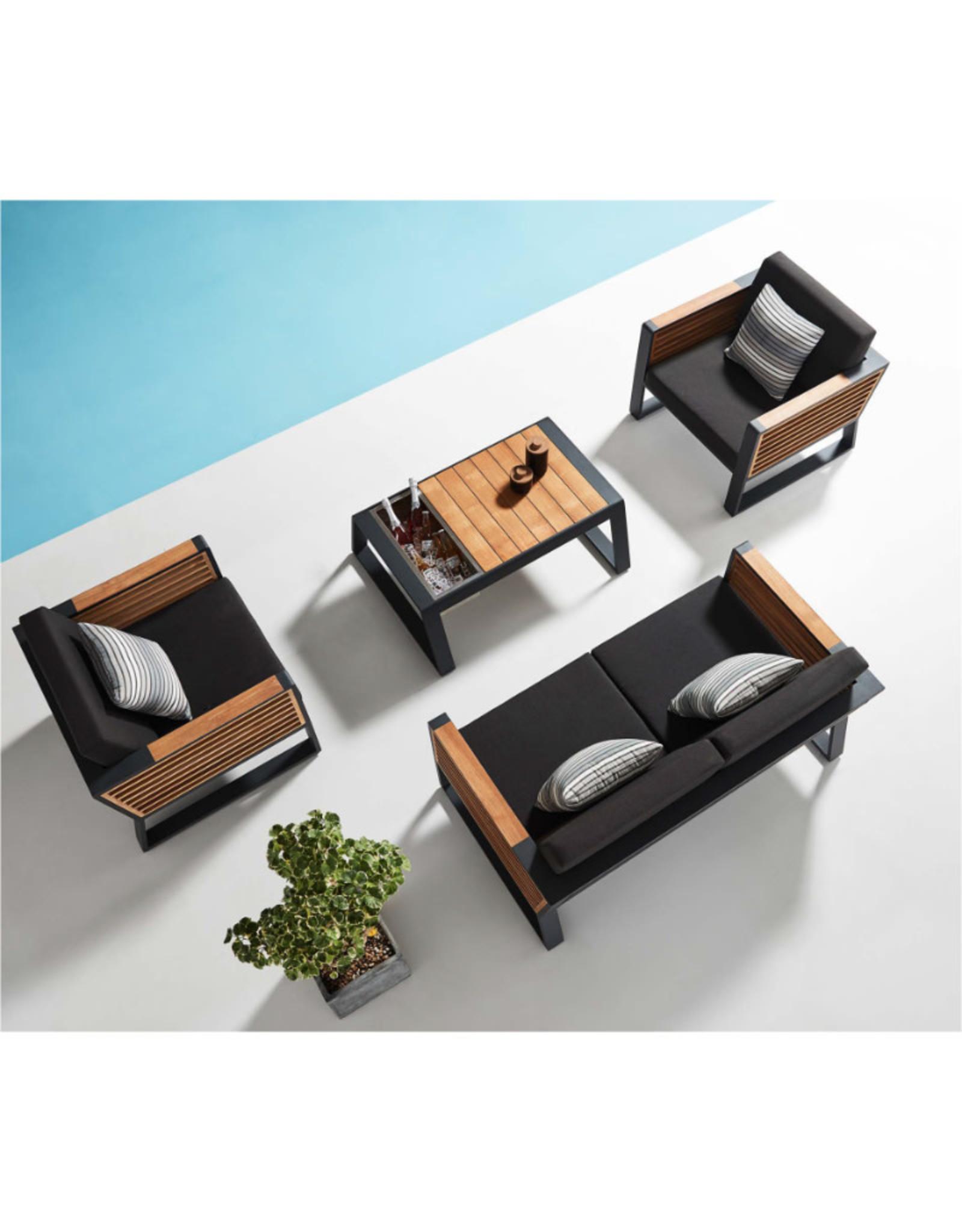 Higold Higold New York Two-seater sofa set 4dlg zwart/teak