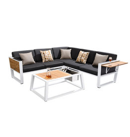 Higold Higold York corner loungeset White-black with teak