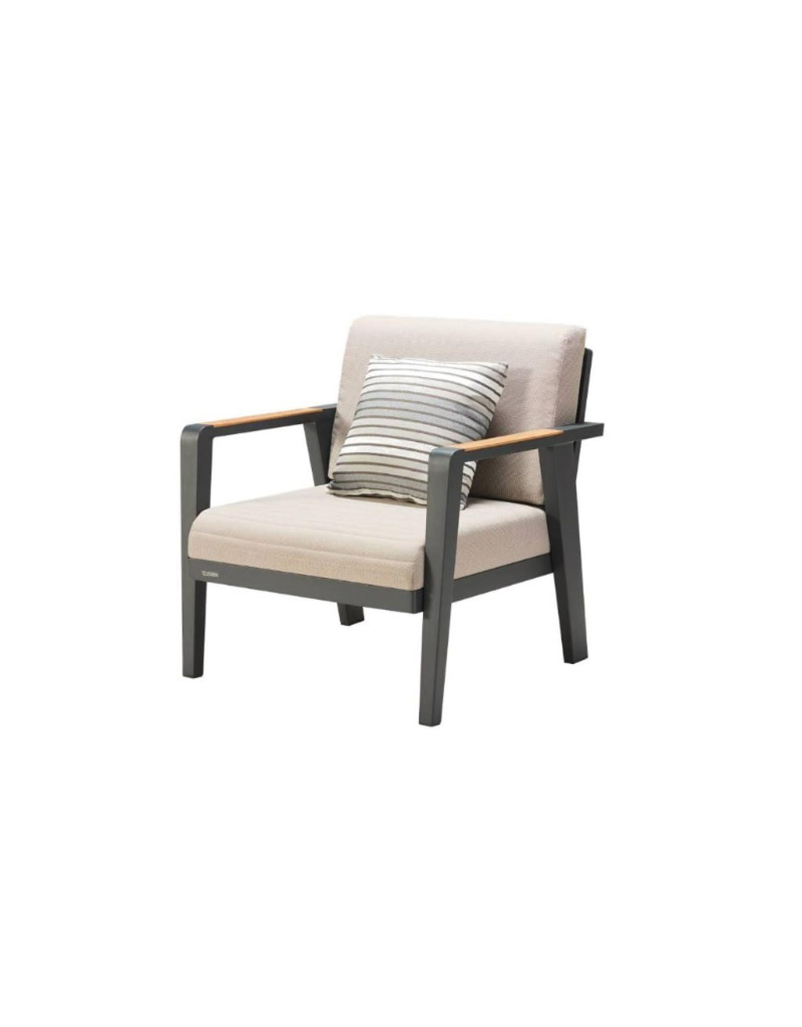 Higold Higold Emoti three seater sofa set 207cm grijs-taupe