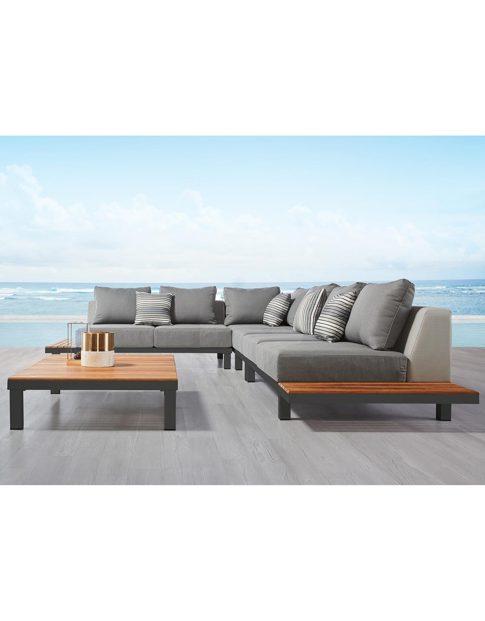 Hamilton Bay OUTDOOR Hamilton Bay Polo Loungeset Premium 280x280cm dark gray