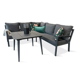Hamilton Bay OUTDOOR Hamilton Bay Smart lounge- diningset 219*199cm donkergrijs