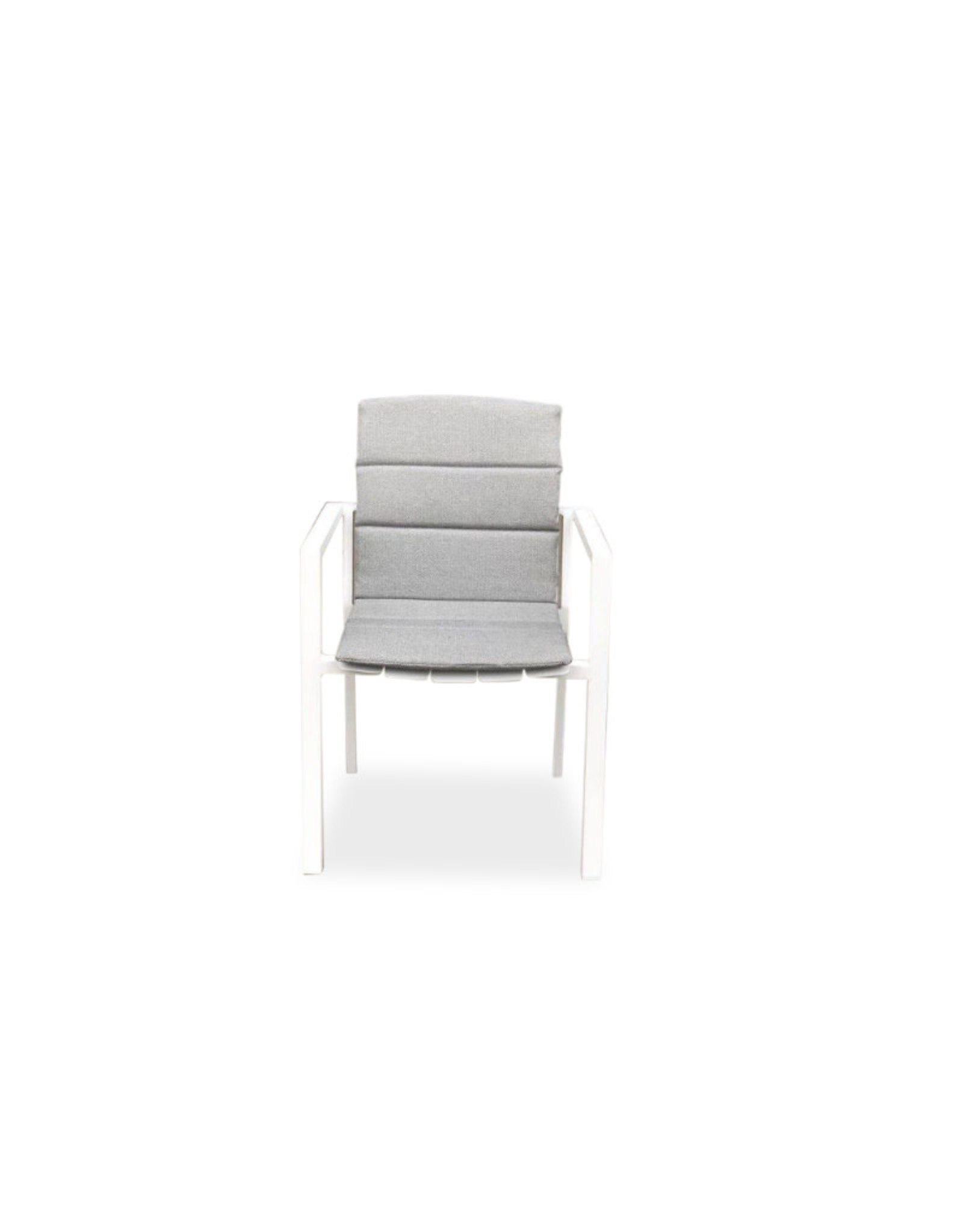 Hamilton Bay OUTDOOR Hamilton Bay Cosmo armstoel full aluminium Wit + vochtwerend kussen light grey