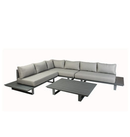Tierra Outdoor Bora Bora platform lounge set full aluminium Right