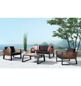 Higold Higold New York Two-seater sofa set 4dlg black/teak