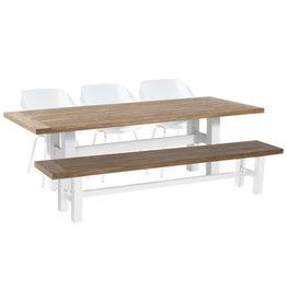 Hartman Hartman 5 piece Sophie Element set with Yasmani table en bench 240cm WIT VINTAGE BROWN