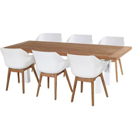 Hartman Hartman 7 piece Sophie Studio teak set with Yasmani 240cm WIT VINTAGE BROWN