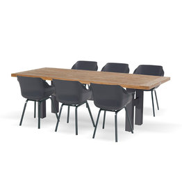 Hartman Hartman 7 piece Sophie Element set with Yasmani table 240cm D.GRIJS VINTAGE BROWN