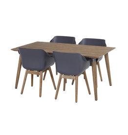 Hartman Hartman set 5-delig Sophie studio teak set met tafel 170x100cm D.GRIJS-TEAK
