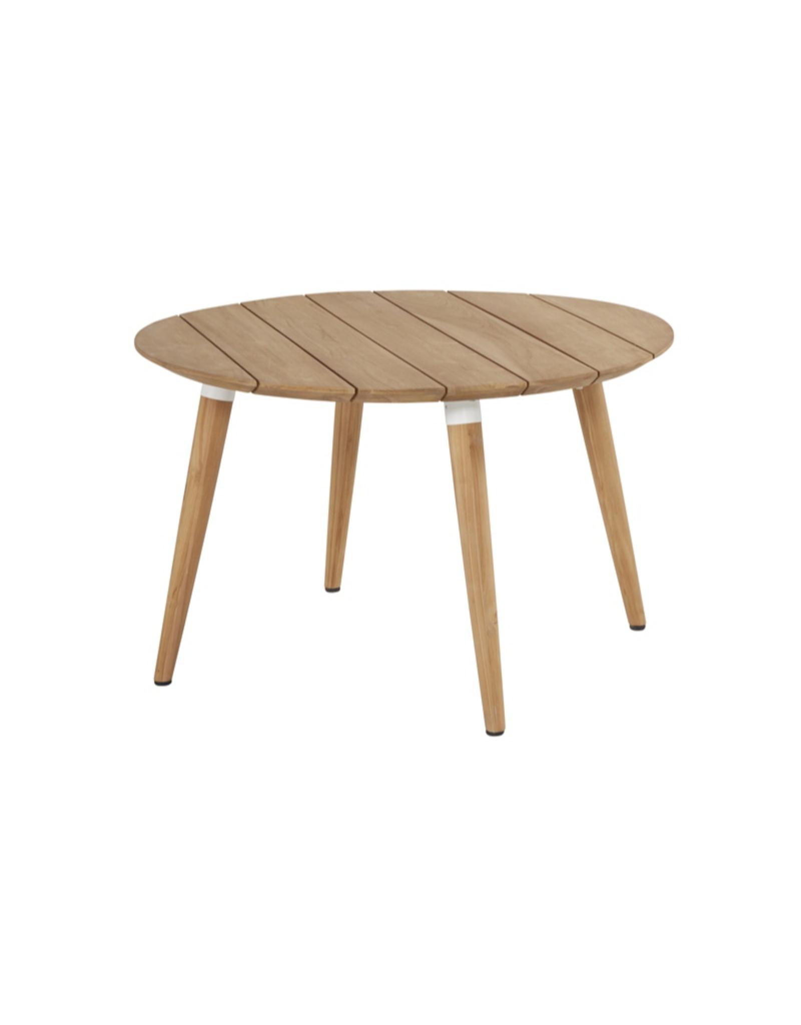 Hartman Hartman Sophie Studio Teak Table 120cm  rond (set article) Wit-TEAK