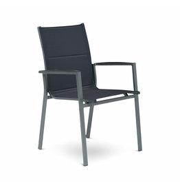 Tierra Outdoor Tierra Outdoor Foxx Stackable Chair Charcoal - Zwart